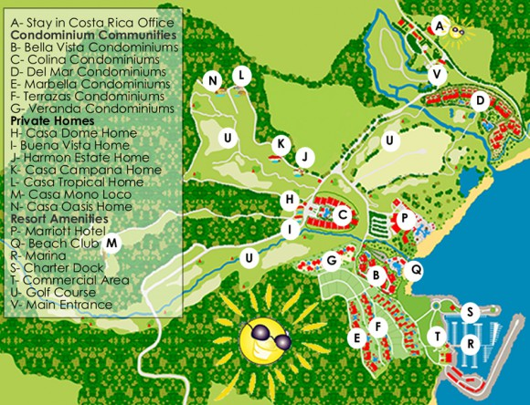 Map of Los Suenos Resort Costa Rica
